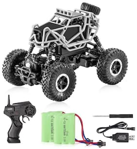 Jaynil Enterprise Dirt Drift Waterproof Remote Controlled Rock Crawler Rock Monster Truck;Grey
