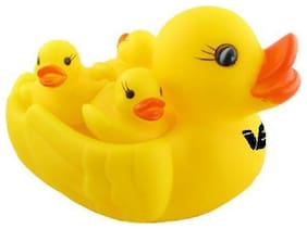 Jaynil Enterprise Rubber Duckies Bath Toys;Multi Color (Set of 4)