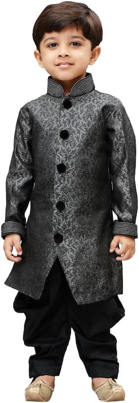 JBN Creation Boy Blended Embellished Sherwani - Grey