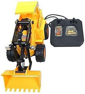 Jcb Construction  Truck Toy with Wire Remote Control For Boys & Girls DUDE-08