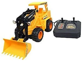 Jcb Construction  Truck Toy with Wire Remote Control For Boys & Girls DUDE-02