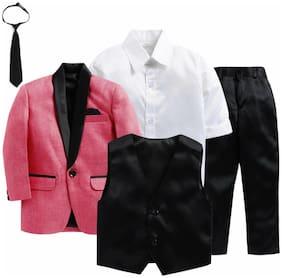 Jeetethnics Multi Boys Coat Suit Set