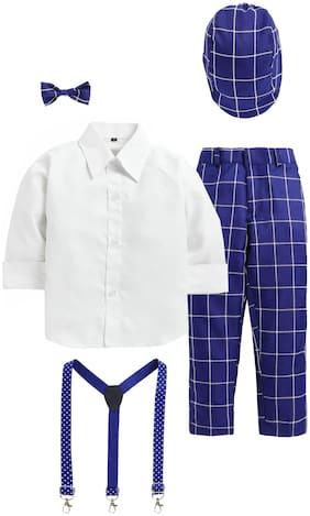 Blue;White Suit