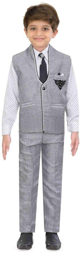Grey Kurta Pyjama Set