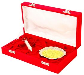 Jewel Fuel Holi Special Silver Pichkari (13Cm) And Bowl Gift Hamper
