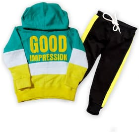 Jexon hardy Multi color hoodie T-shirt & pant sets for baby boys & girls