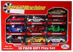 JGG Metal Gift Play Fast Running Wheel Series of Car Toys Pack of 10