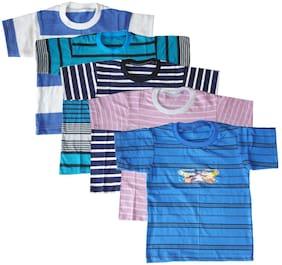 Jisha Boy Cotton blend Printed T-shirt - Multi