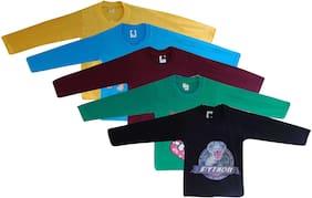 Jisha Cotton Solid Shirt for Unisex Infants - Multi