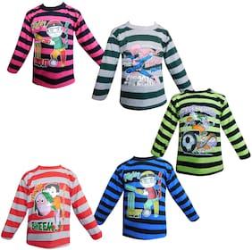 Jisha Cotton blend Solid Shirt for Unisex Infants - Multi