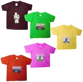 Jisha Boy Cotton Solid T-shirt - Yellow