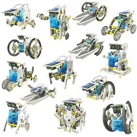 jk int 14 in 1 Educational Solar Robot Kit toys for kids (Multicolour)