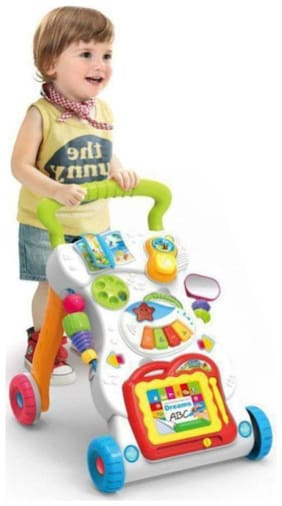 jk int Children Walker With Music Lights and Fun Developmental activities for kids Musical Multi color.
