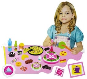 JK INT Colorful Tableware Cooking Set Toy For Girls NO-7638-3