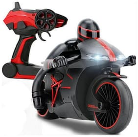 jk int High-Speed Lightning R/C Remote Control Motorcycle 2.4 GHz Rechargeable w