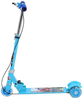 jk int  Kids Foldable 3 Wheel Scooter Tricycle for Indoor & Outdoor Fun (Blue)