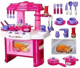 jk int  Kitchen Toy Set for Girls (40 pc Kitchen Set)