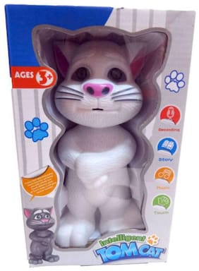 jk int  White Plastic Talking Tom Cat