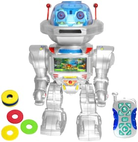 JM 30CM Battery Operated Robot IR Radio Control RC Racing Car Kids Toys Toy Gift Remote  R85