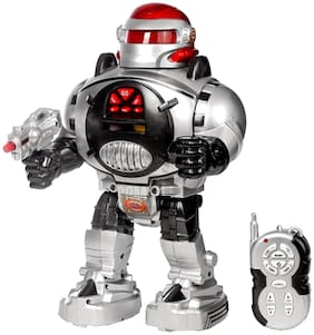 JM 30CM Battery Operated Robot IR Radio Control RC Racing Car Kids Toys Toy Gift Remote - R73
