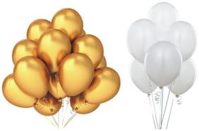 JMD Balloon Golden & white 50pcs each