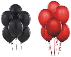JMD Balloon Red & Black 50pcs each
