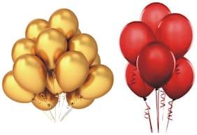 JMD Balloon Golden & red 50pcs each