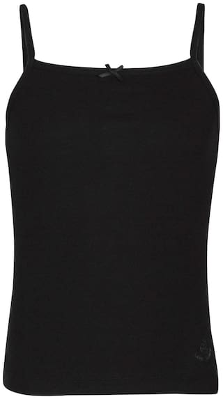 Jockey Camisole for Girls - Black , Set of 1
