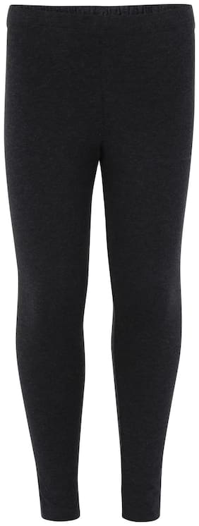 Jockey Cotton Solid Leggings - Black