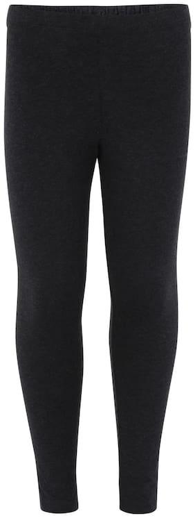 Jockey Cotton Solid Leggings - Black
