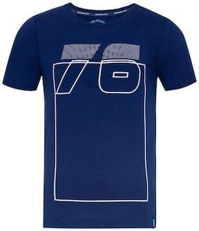 Jockey Boy Cotton Printed T-shirt - Blue
