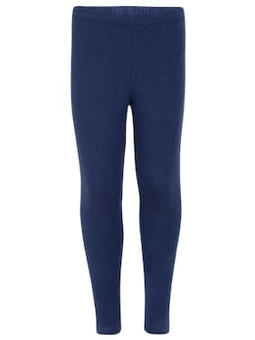 Jockey Cotton blend Solid Leggings - Blue