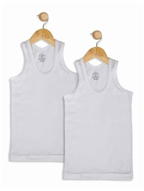 Jockey Vest For Boys - White , Set of 2