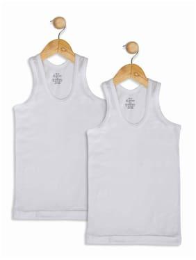 Jockey Vest For Boys - White , Pack of 2