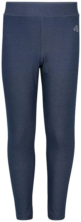 Jockey Cotton Solid Leggings - Blue