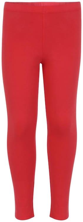 Jockey Cotton Solid Leggings - Red