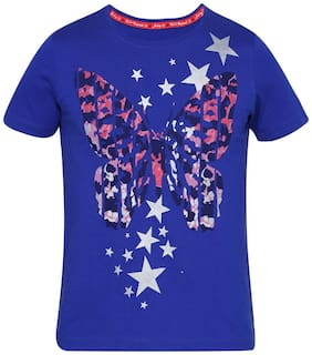 Jockey Girl Cotton Solid Top & T shirt - Blue