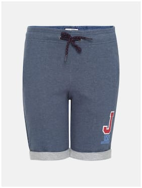 Jockey Insignia Blue Melange Boys Shorts  Blue