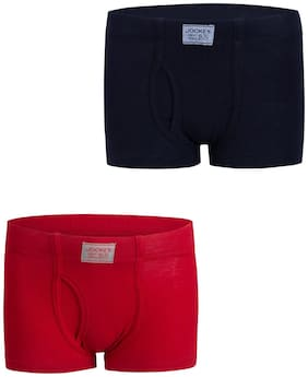 Jockey Bloomer For Boys - Red & Blue , Set of 2