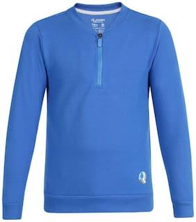 Jockey Boy Cotton Solid Sweatshirt - Blue