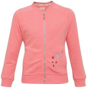 Jockey Girl Cotton Solid Winter jacket - Pink