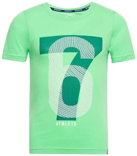 Jockey Boy Cotton Printed T-shirt - Green