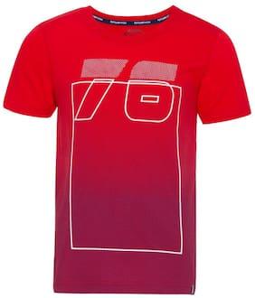 Jockey Boy Cotton Printed T-shirt - Red