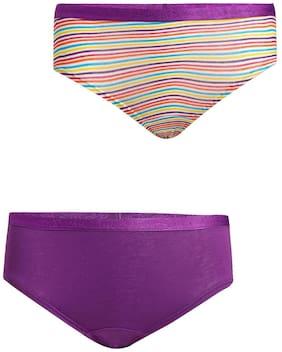 Jockey Panty & bloomer for Girls - Purple , Pack of 2