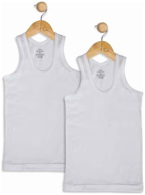 Jockey Vest For Boys - White , Set of 2