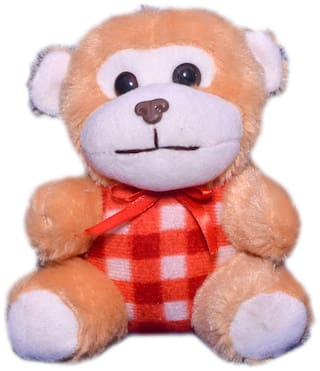 Joey Toys Brown And Red Monkey - 15.24 cm (6 inch)