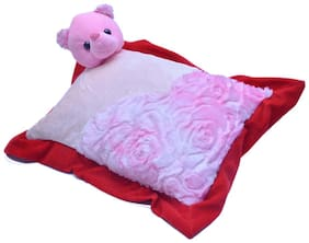 Joey Toys Red And Pink Face Teddy Cushion - 39.87 cm (15.7 inch)