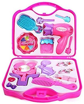 Johnnie Boy Grooming Kit , Role Play Beauty Make Up toys Set For Girls (PINK )