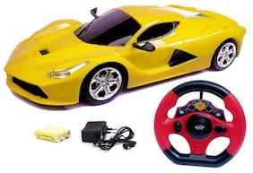 Johnnie Boy ferrari style remote control rechargeble car toy for kids (multicolor)  (Multicolor)