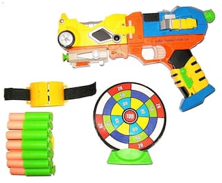 Johnnie Boy x-strike blaster transmulation soft dart gun with conversion mode  (Multicolor)